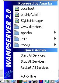 Скриншот WAMPSERVER