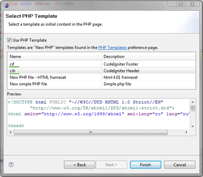 new php file