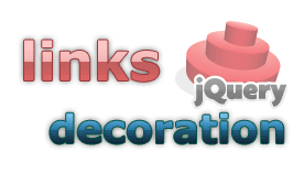 jquery links decoration