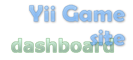 yii game site dashboard