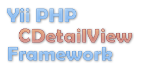 yii php cdetailview