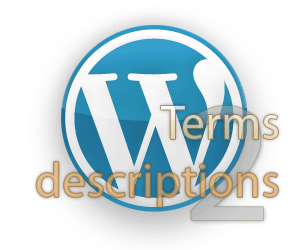 wp terms descriptions 2