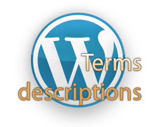 wp terms descriptions logo