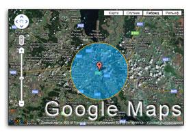 google maps circle logo