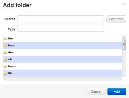 btsync add folder
